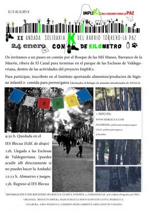Ven a participar en la II Andada Solidaria por nuestro entorno que impulsa el proyecto Implika2