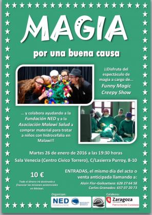 Magia por una buena causa: este martes, con Funny Magic Creepy Show en el Centro Cívico Torrero
