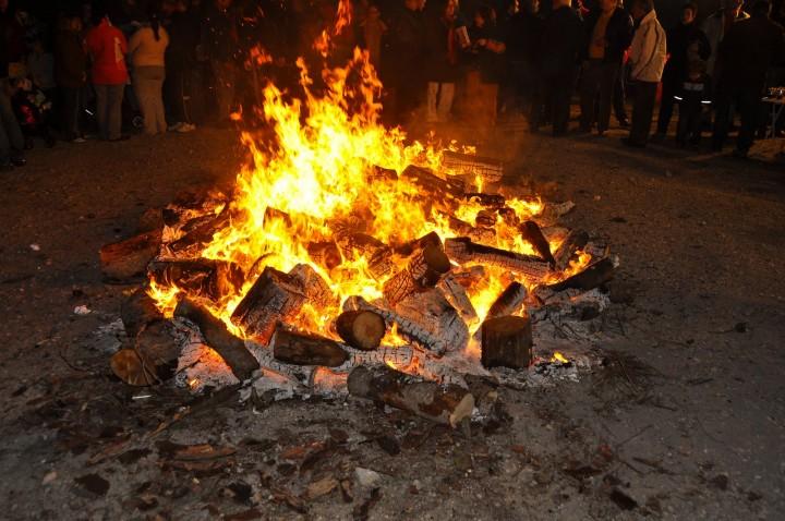 hoguera de san Antón es tradicional en Torrero
