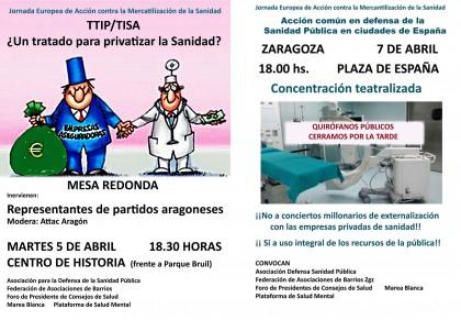 Mesa redonda y concentración contra la privatización de la sanidad