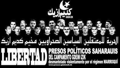 La Asociación respalda la huelga de hambre solidaria en apoyo a los presos saharauis de Gedeim Izik