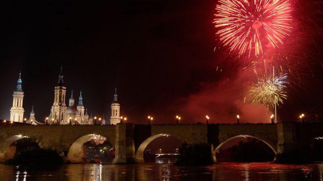 Los fuegos artificiales marcan el tradicional fin de fiestas
