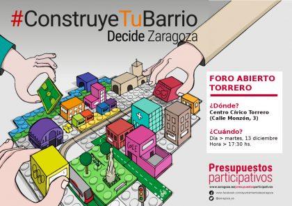 La Sala Venecia acoge este martes el Foro Abierto para debatir las necesidades de Torrero