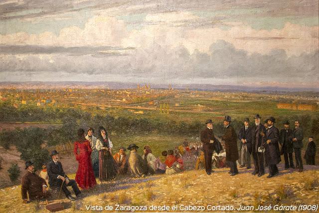 Vista de Zaragoza. Gárate