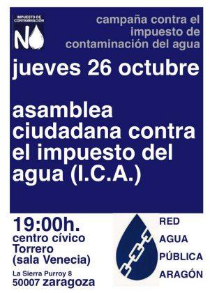Cartel convocatoria Asamblea contra el ICA
