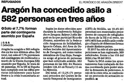 Reseña Jornadas 2017 Periodico de Aragón