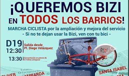 Marcha ciclista por la ampliación del servicio Bizi