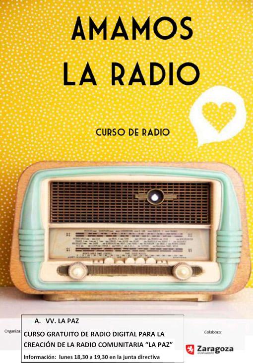 Cartel Curso de Radio AVV La Paz
