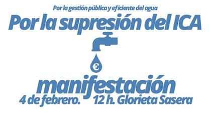 Convocatoria de manifestación contra el ICA