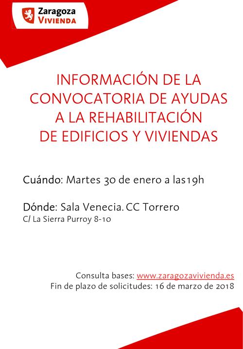 Sesión informativa sobre las ayudas para rehabilitación de viviendas