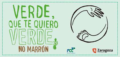 """La campaña """"Verde que te quiero Verde, no Marrón"""" llega a Torrero La Paz"""