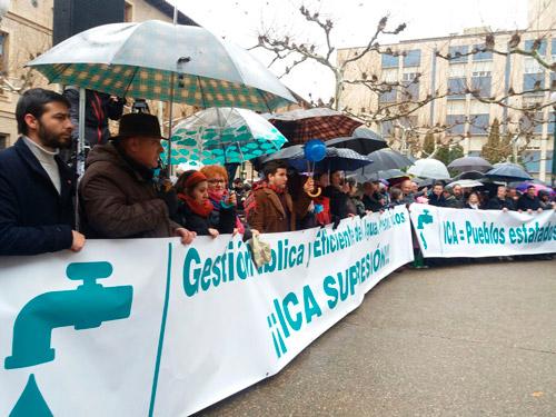 Manifestación contra el ICA 4 de febrero de 2018