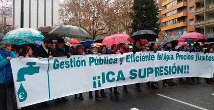 Zaragoza se manifiesta contra el ICA