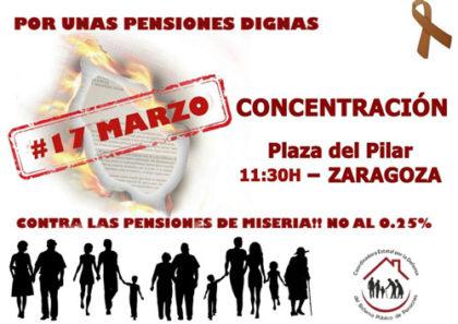 Concentración por unas pensiones dignas