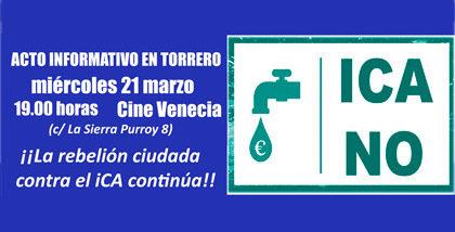 Acto informativo sobre el ICA en Torrero