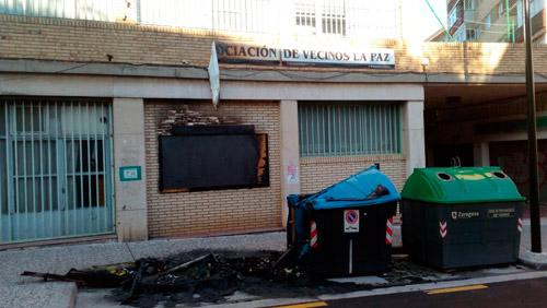 Incendio en la Asociación de Vecinos La Paz