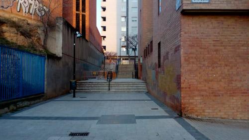 Obras en las Escaleras de García Condoy