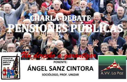 Charla debate sobre pensiones públicas
