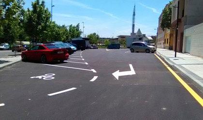 Ya está operativo el aparcamiento de la calle Zafiro