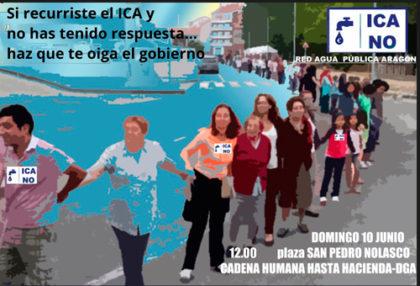 Cadena Humana contra el ICA