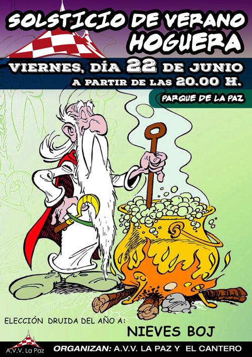 Cartel Hoguera Solsticio 2018
