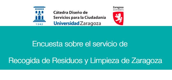Encuesta sobre el servicio de Recogida de Residuos y Limpieza de Zaragoza