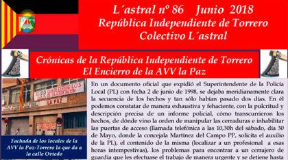 Recordamos el 20º aniversario del encierro de la AV La Paz
