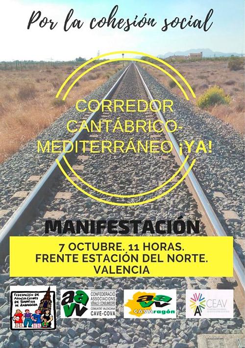 La FABZ se suma a una manifestación por el Corredor Cantábrico-Mediterráneo