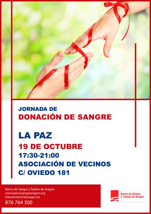 Jornada de donación de sangre 19 de octubre 2018