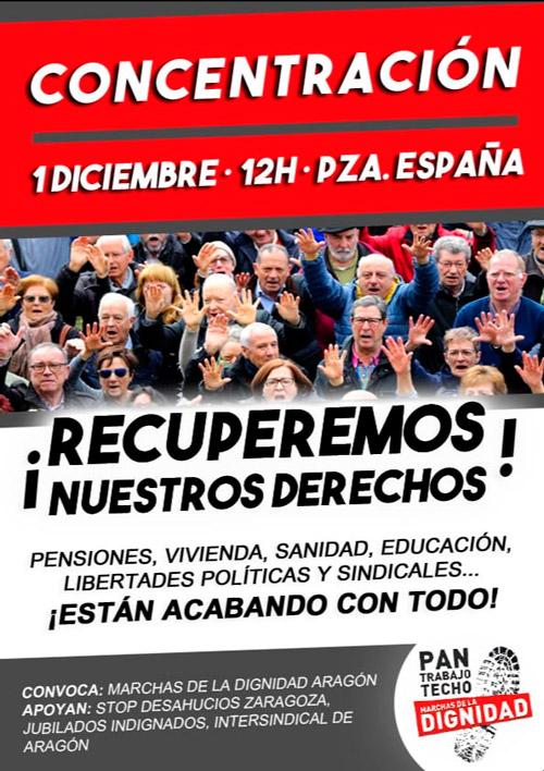 Concentración Marchas de la Dignidad 01-12-2018