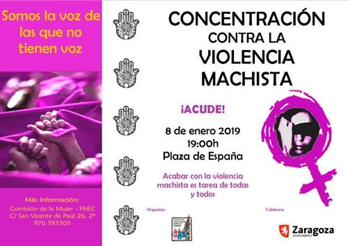 Concentración contra la Violencia Machista el 8 de enero