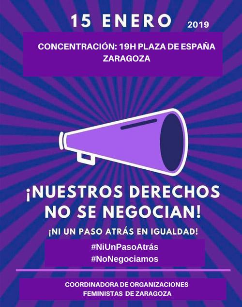 Concentración #NiUnPasoAtrás