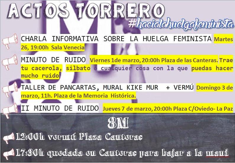 Actos Torrero #hacialahuelgafeminista del 8M