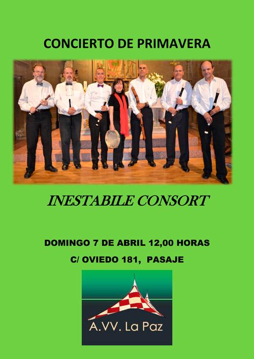 Concierto de Primavera Inestabile Consort 07-04-2019