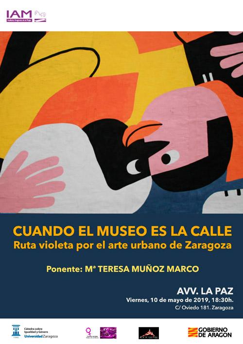 Ruta violeta por el arte urbano de Zaragoza 10-05-2019