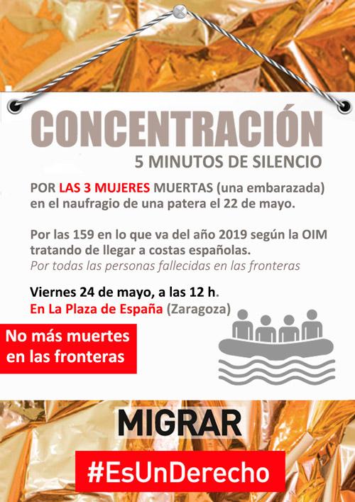 Concentración por la muerte en las fronteras 24-05-2019