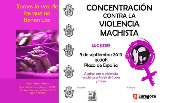 3 de septiembre:, concentración contra la violencia machista