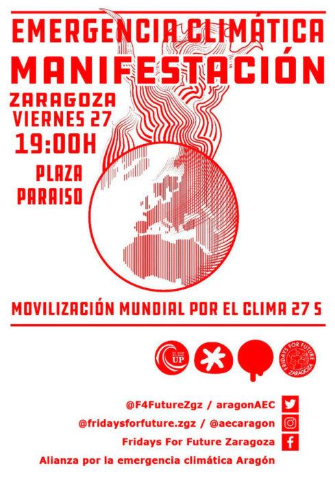 Zaragoza se suma a la Huelga por la Emergencia Climática