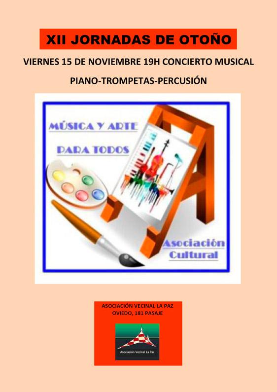 XII Jornadas de Otoño: Concierto piano, trompetas y percusión