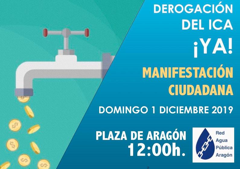 Domingo 1 de diciembre: Manifestación contra el ICA