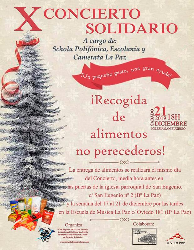 Cartel X Concierto Solidario La Paz