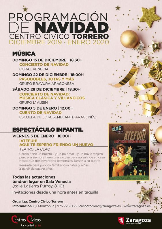 Programación de Navidad 2019-2020 en el Centro Cívico Torrero