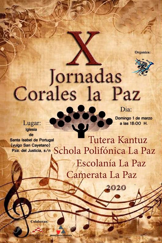 Cartel X Jornadas Corales La Paz