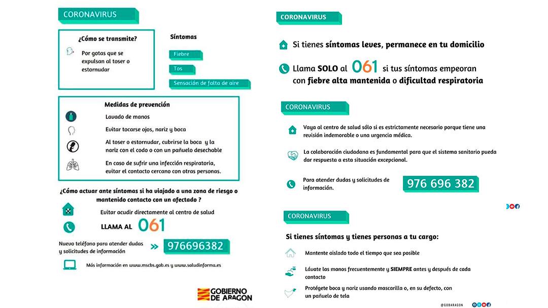 Coronavirus Instrucciones Español Gobierno de Aragón