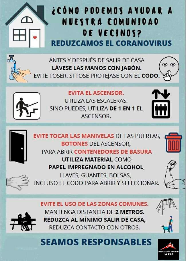 Coronavirus: Comunidades de Vecinos