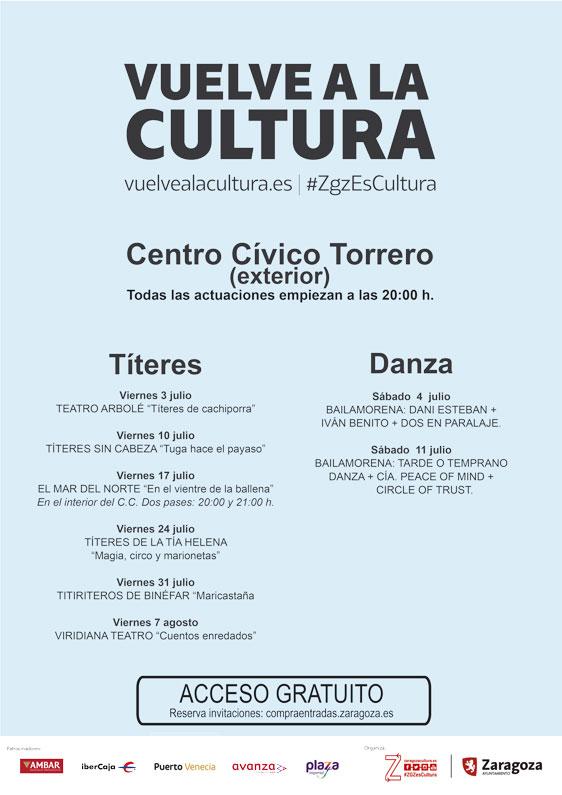 Actividades Centro Cívico de Torrero Julio 2020