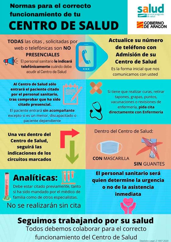 Normas del Centro de Salud Julio 2020