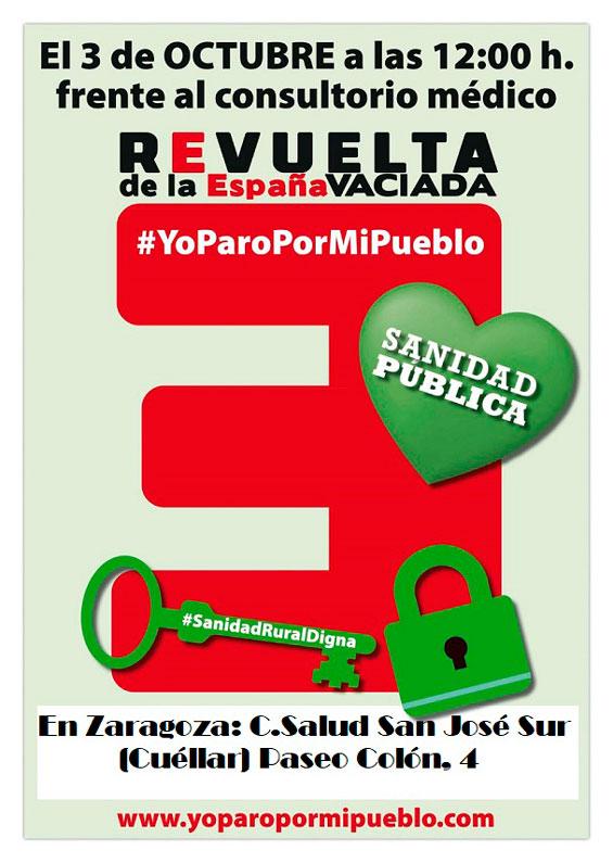 Convocatoria #YoParoPorMiPueblo por la Sanidad Pública el 3 de octubre