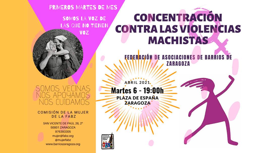Concentración contra las violencias machistas Abril 2021