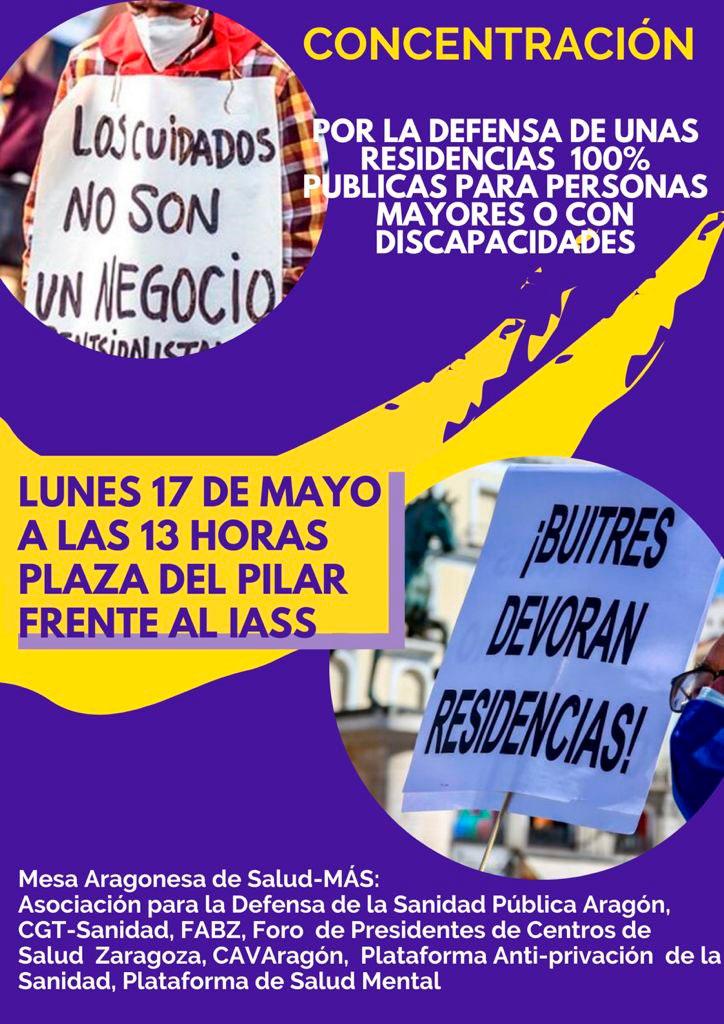 Concentración Residencias Públicas 17-05-2021